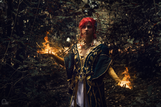 The Witcher 3 - Triss DLC outfit cosplay by HeritageOfTheWolf