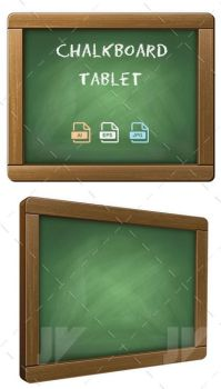 Chalkboard Tablet by JaneVision