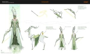 Ghilan'nain Concept Dragon Age by vertry