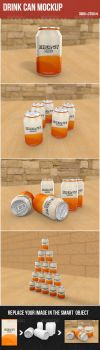 Drink Can Mockup by graphickey