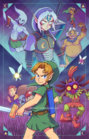 The Other Faces of Link - Majora's Mask by marcotte