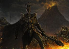 Dark Lord Sauron by LasloLF