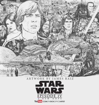 STAR WARS: A NEW HOPE TRIBUTE by boxofficeartist