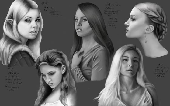 Face Study 2 - June '15 by Arkanthor