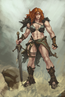 Barbarian Female Study by SpazzCreations