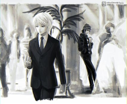 HxH: How's going? (Chrollo+Kurapika) by mick347