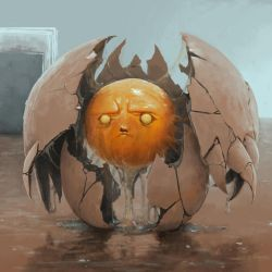 POSSESSED EGG by dante-cg