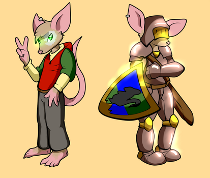 Knight Mouse Spencer by Dustomega