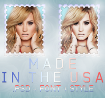 + Made in the USA ~Psd Light + Style + Font by Bestouthearted