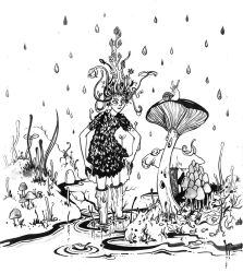 Inktober. After the rain by Last-Valentine