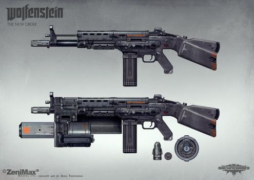 Wolfenstein: The New Order - AR 60 with extras by torvenius