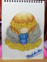 Flowerfell Frisk watercolor painting by NecryoNics
