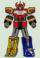 Mighty Morphin Power Rangers - Dino Megazord by vandersonmetal