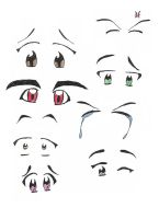 Anime Eyes by occreater
