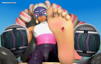 Twintelle Barefoot Crush by Smexy-Nation