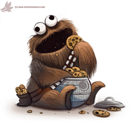 Daily Paint #1106. Cookie Wookie Monster by Cryptid-Creations
