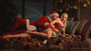 Mr and Mrs Claus by Taitiii