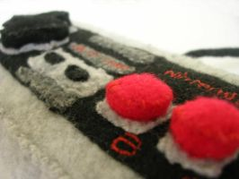 Nintendo NES plush controller by restlesswillow