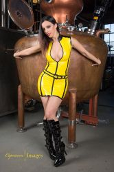 Kerrit Taylor yellow latex by modelkerritaylor