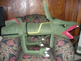 RAYQUAZA plush WIP by scilk