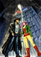 Conversations in the rain by Alsheeny