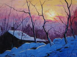Winter Sunrise by artsaus