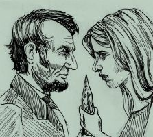buffy and abe...the vampire slayers by depp800