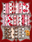 Valentine patterns for Illustrator by roula33