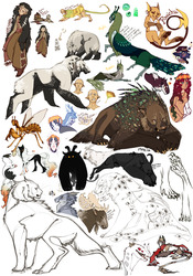 Concept Sketch Page by Hauket
