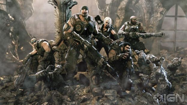 gears of war 3 characters by YoshiSand