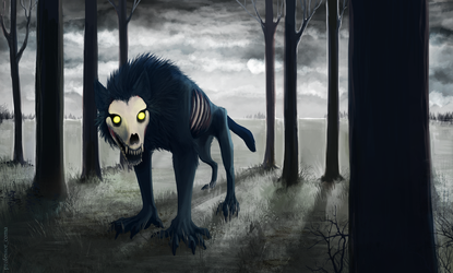 zombie-wolf by drowsyghost