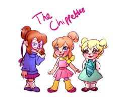 The Chipettes - 80s by Loveless-Nights