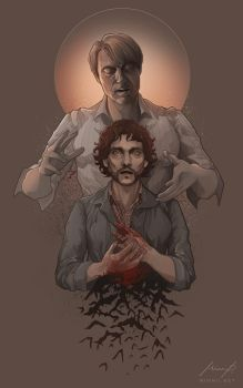 Hannibal and Will (Halloween) by MimmuArt