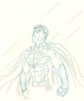 Superman Sketch by JamesLeeStone