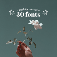 30 fonts pack! by allscallie