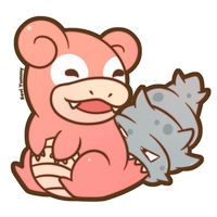 COMMISSION: Chibi Slowbro