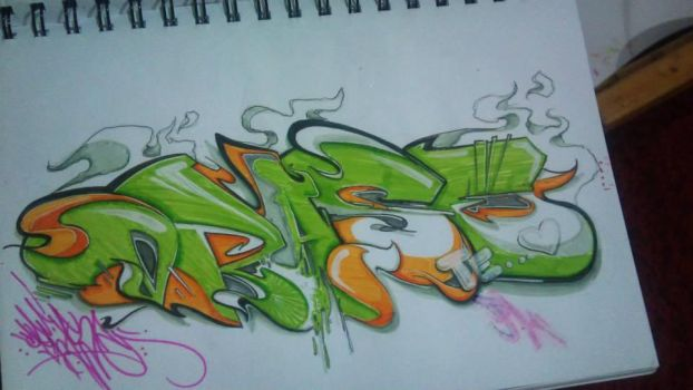 Sketch Green Mass by draseart