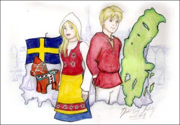 Countries - Sweden by duskyrainbow
