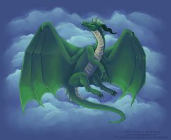 Emerald Dragon by Zyleeth