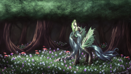 Queen Chrysalis by macalaniaa