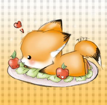 oO0 Foxie for lunch 0Oo by agotaku