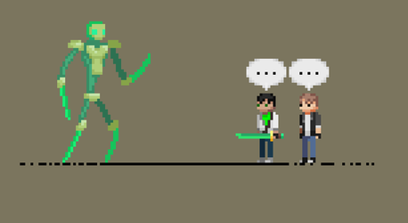 The Emerald Dream bot thing - Pixel art by JoshGold126
