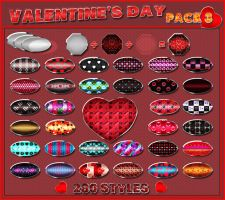Valentine's Day    Styles Ps    Pack 3 by Laurent-Dubus