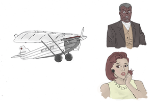 Vintage Plane drawing by electronicdave