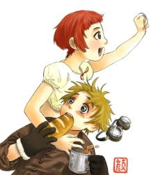 Last Exile: Lavie and Claus by wredwrat