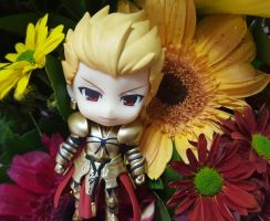 GoldKing Gilgamesh with BeautyfulFlowers  [P3] by ng9