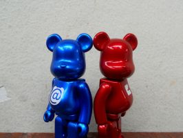 Duo Bearbrick by xavierlokollo