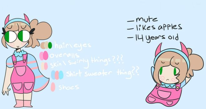 Popee The Performer OC (Updated Ref Sheet) by CrazygamergirlYT