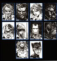 Summit City  Sketch Cards by aaronminier