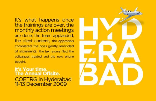 Hyderabad Offsite Flyer by alvito